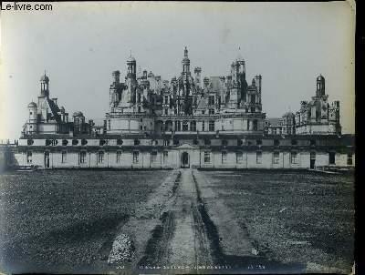 1 PHOTO ANCIENNE EN NOIR ET BLANC - CHATEAU DE CHAMBORD - FACADE MERIDIONALE - N°253