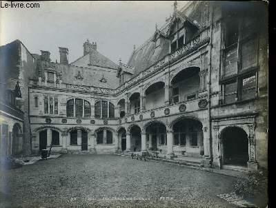 1 PHOTO ANCIENNE EN NOIR ET BLANC - BLOIS, HOTEL D'ALLUYE, COUR INTERIEUR N°355