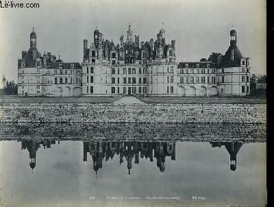 1 PHOTO ANCIENNE EN NOIR ET BLANC - CHATEAU DE CHAMBORD - FACADE SEPTENTRIONALE - N°255