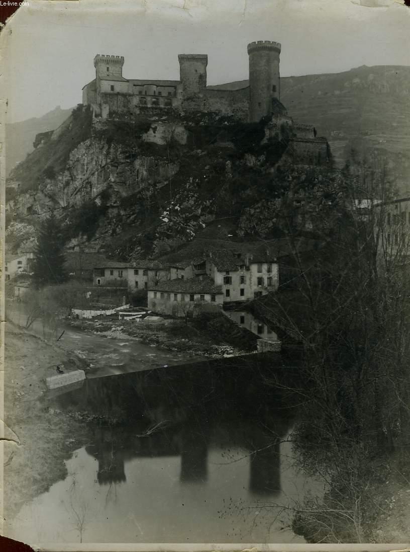 1 PHOTO ANCIENNE EN NOIR ET BLANC - FOIX - CHATEAU DES CONTES DE FOIX
