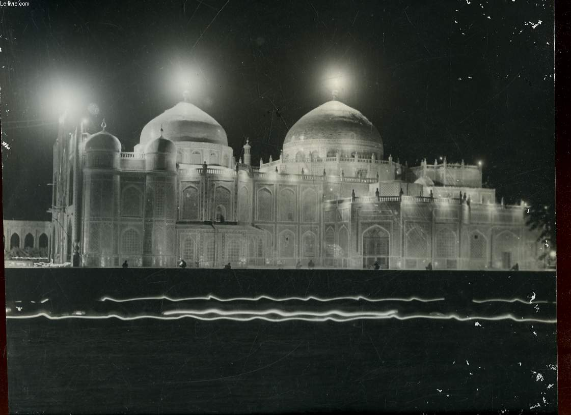 1 PHOTO ANCIENNE EN NOIR ET BLANC - MAZAR I SHARIF IN LIGHTS - AFGANISTAN