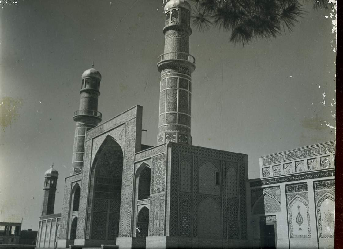 1 PHOTO ANCIENNE EN NOIR ET BLANC -  THE GRAND MOSQUE OF HERAT - AFGHANISTAN
