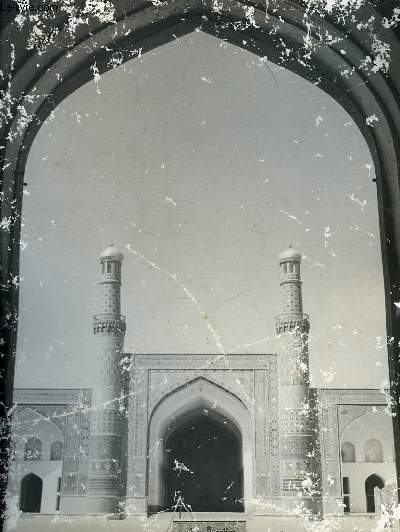 1 PHOTO ANCIENNE EN NOIR ET BLANC - MAIN GATE OF THE GRAND MOSQUE OF HERAT, AFGHANISTAN