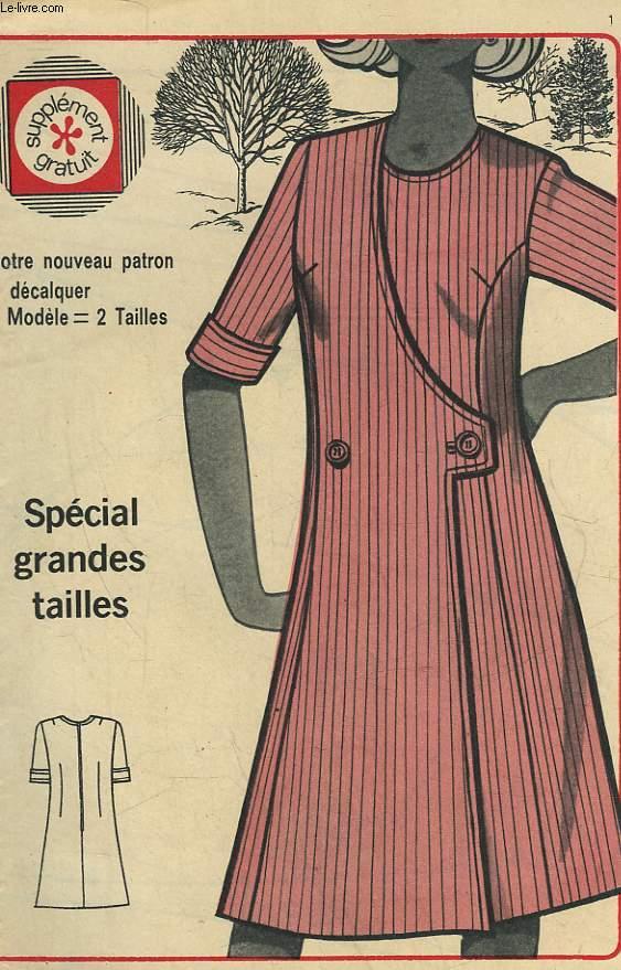 1 PATRON : LA ROBE CROISEE - TAILLE 50 ET 54