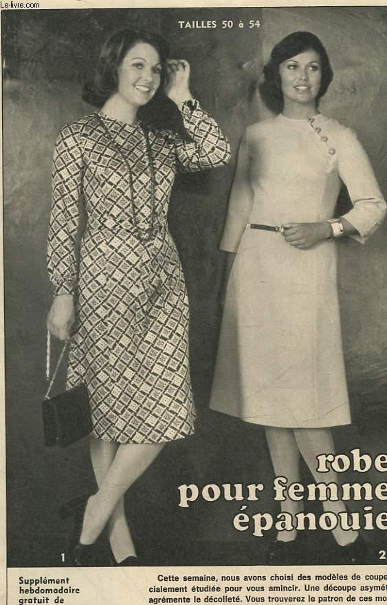 1 PATRON : ROBES POUR FEMMES EPANOUIES - TAILLES 50 A 54