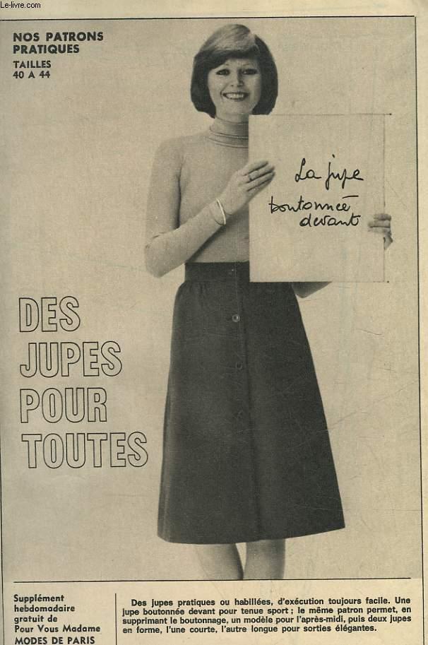 1 PATRON : DES JUPES POUR TOUTTES - TAILLES 40 A 44