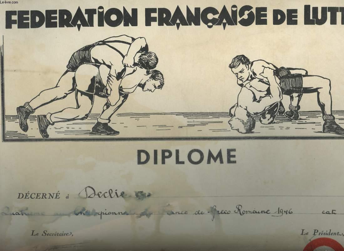 1 DIPLOME DE LA FEDERATION FRANCAISE DE LURRE