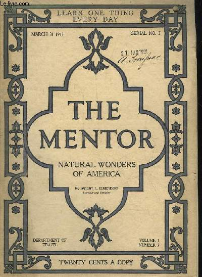 THE MENTOR - NATURAL WONDERS OF AMERICA - SERIAL N°7 - VOLUME 1 N°7