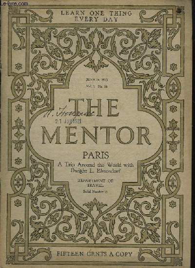 THE MENTOR - SERIAL N°18 - VOLUME 1 - N°18 - PARIS - A TRIP AROUND THE WORLD WITH DWIGHT L. ELMENDORF