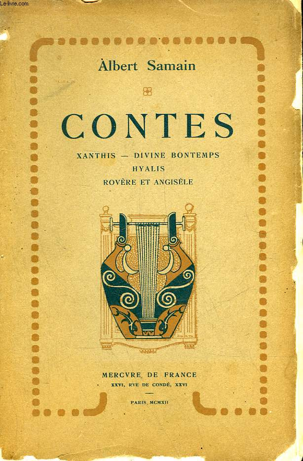 CONTES - XANTHIS, DIVINE BONTEMPS, HYALIS, ROVERE ET ANGISELE
