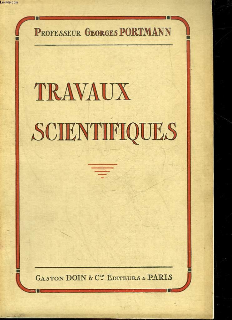 TRAVAUX SCIENTIFIQUES
