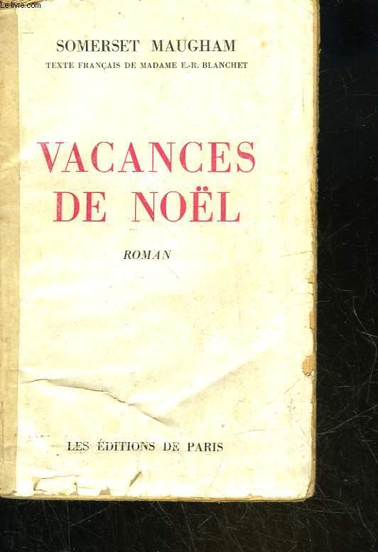 VACANCES DE NOEL