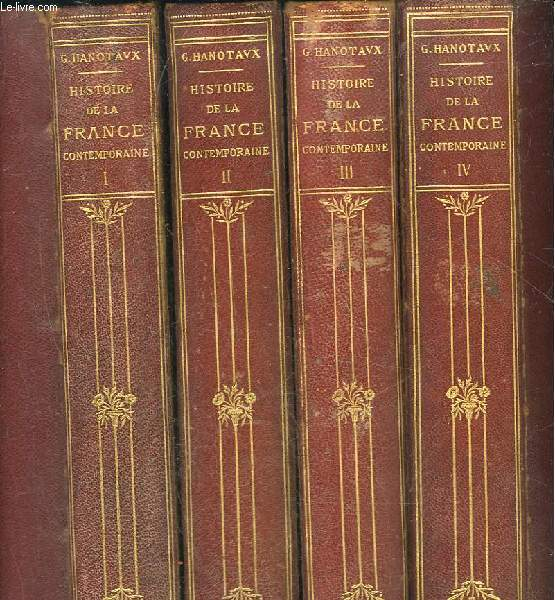HISTOIRE DE LA FRANCE CONTEMPORINE - 4 TOMES