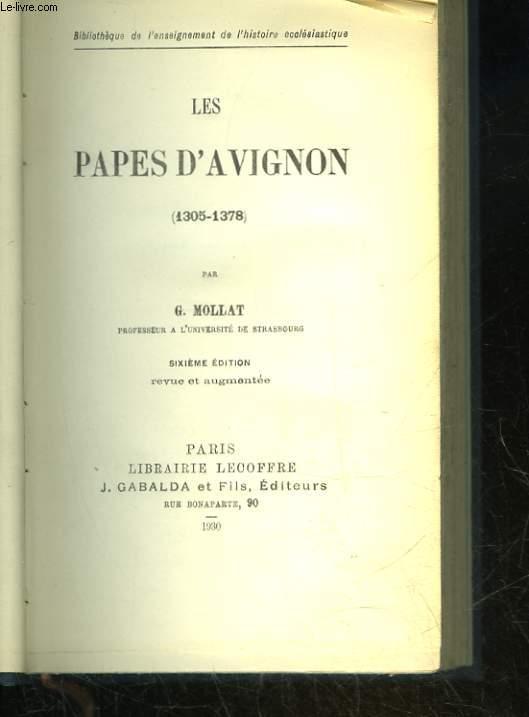 LES PAPES D'AVIGNON (1305-1378)