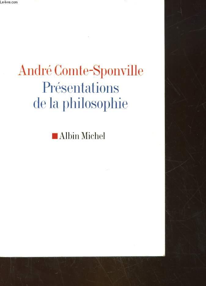 PRESENTATIONS DE LA PHILOSOPHIE