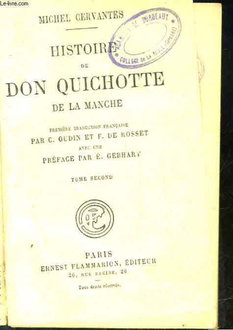 HISTOIRE DE DON QUICHOTTE DE LA MANCHE - TOME 2
