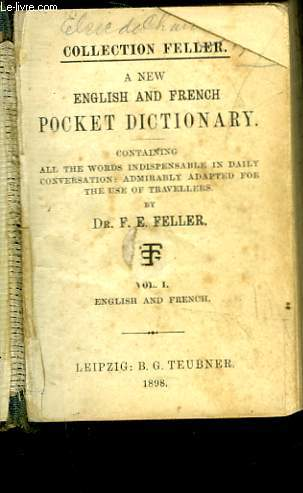 A NEW ENGLISH AND FRENCH POCKET DICTIONARY 2 VOLUMES IN ONE