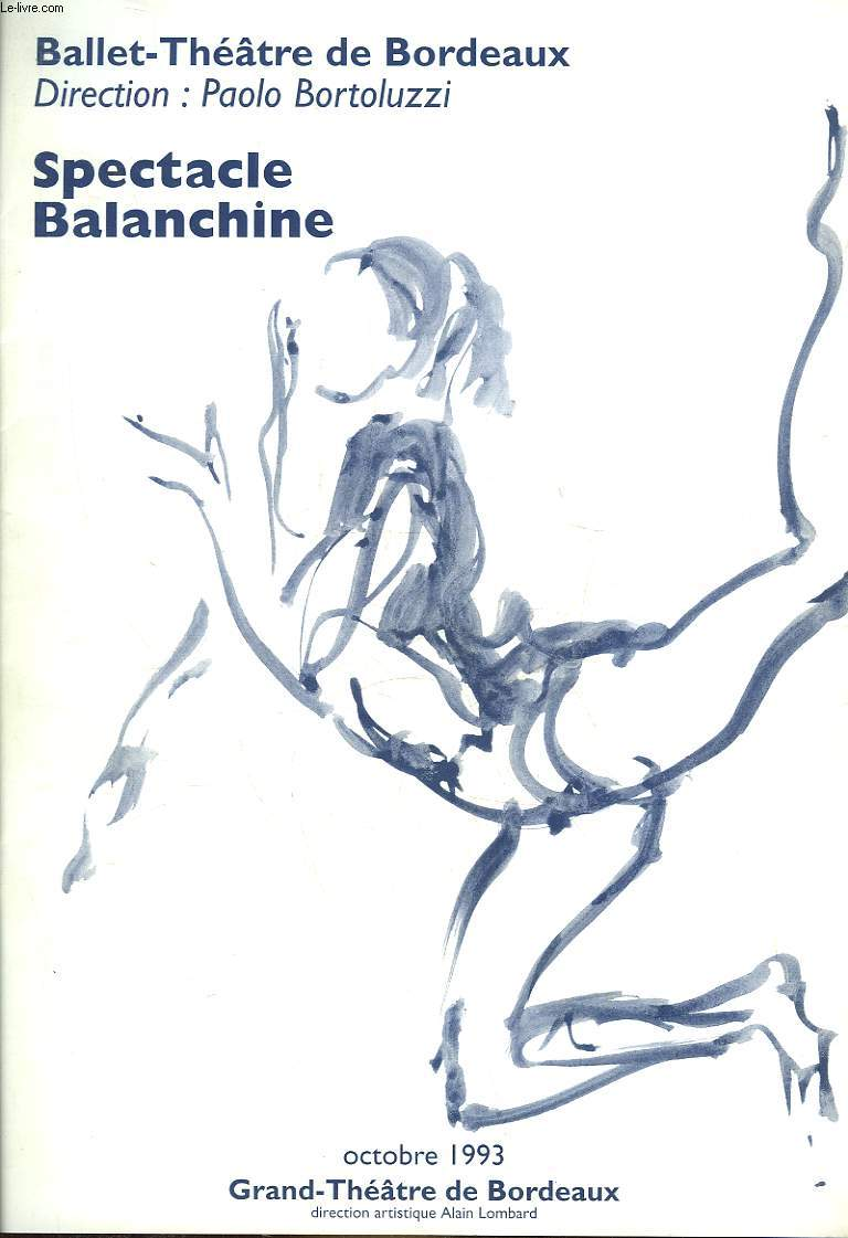 1 PROGRAMME - SPECTACLE BALANCHINE