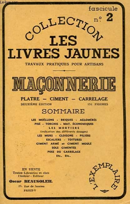 MACONNERIE - PLATRE, CIMENT, CARRELAGE