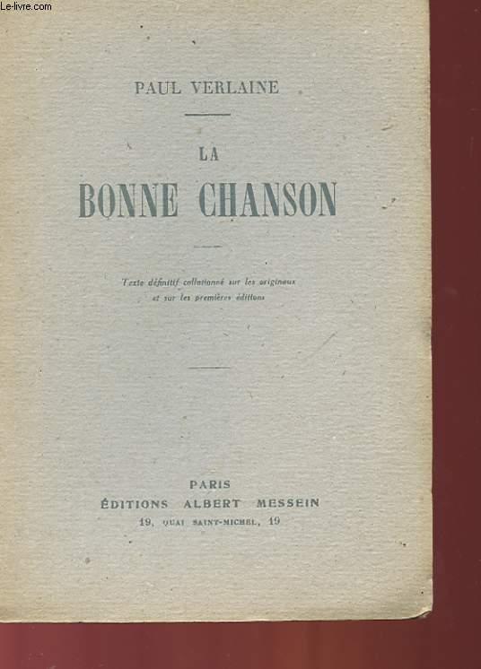 LA BONNE CHASON