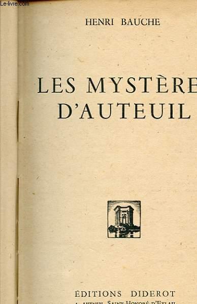 LES MYSTERES D'AUTEUIL