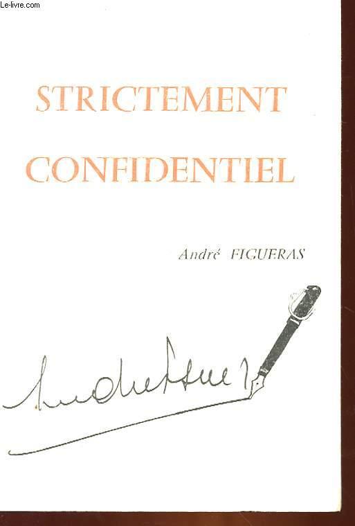 STRICTEMENT CONFIDENTIEL