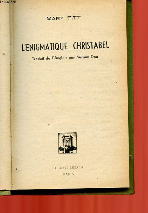 L'ENIGMATIQUE CHRISTABLE