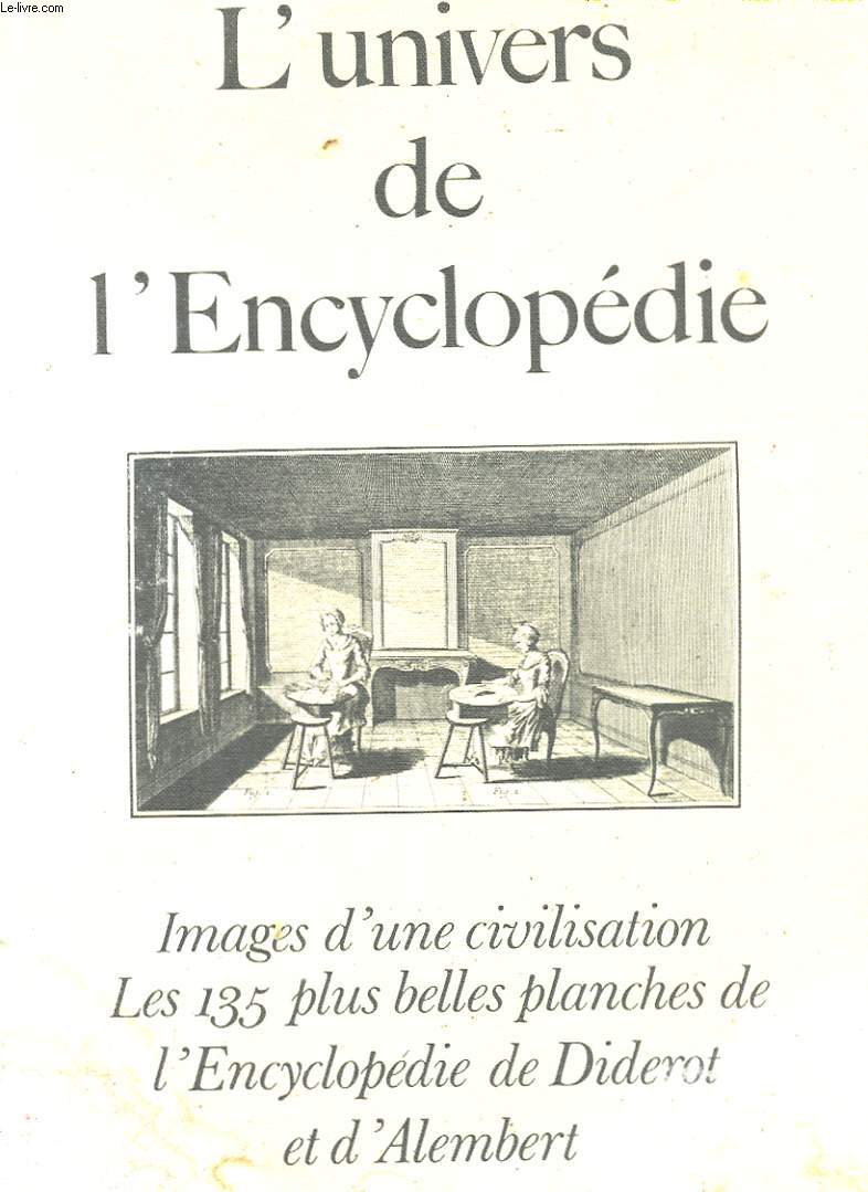 L'UNIVERS DE L'ENCYCLOPEDIE