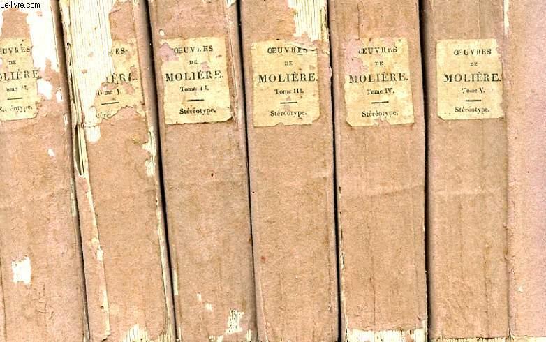 OEUVRES DE J. B. POQUELIN - 6 TOMES
