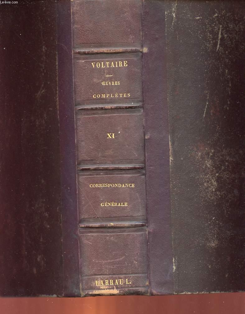 OEUVRES COMPLETES DE VOLTAIRE - TOME 11 - CORRESPONDANCE GENERALE  TOME 1
