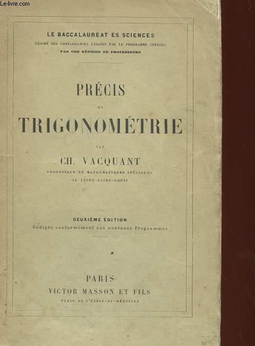 PRECIS DE TRIGONOMETRIE