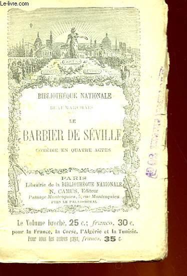 THEATRE DE BEAUMARCHAIS - LE BARBIER DE SEVILLE