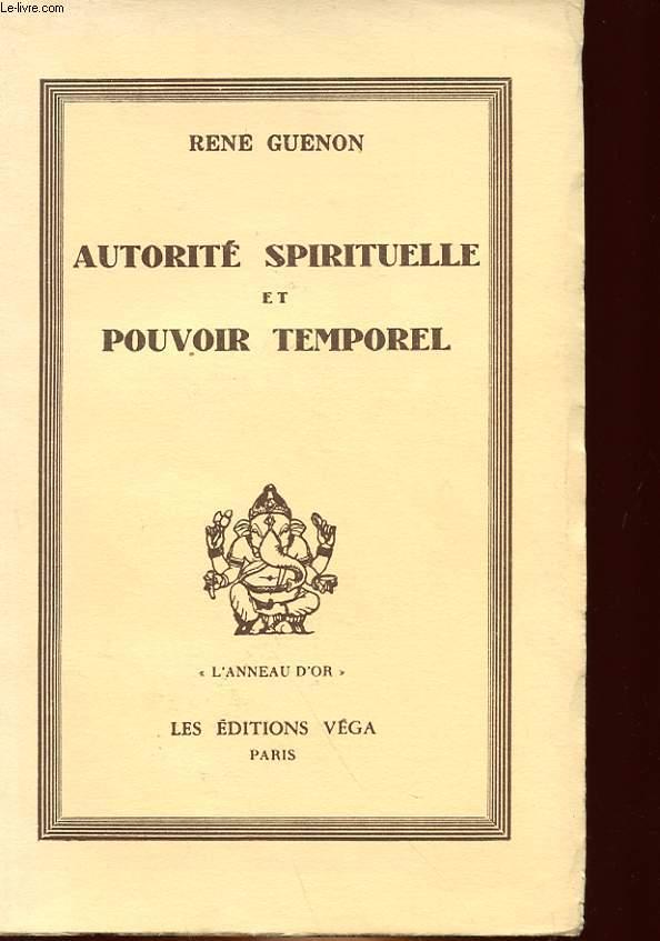 AUTORITE SPIRITUELLE ET POUVOIR TEMPORE