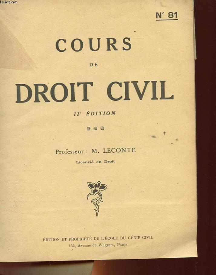 ECOLE DU GENIE CIVIL - N°81 - NOTIONS DE DROI CIVIL