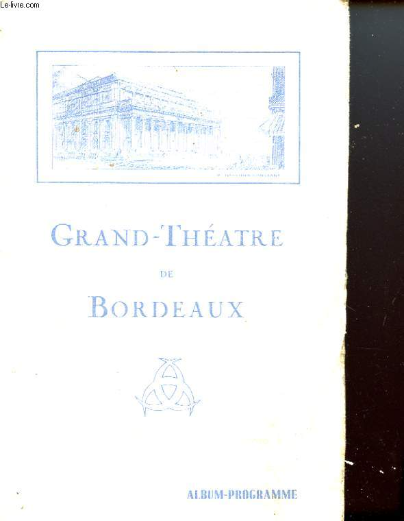 1 PROGRAMME GRAND-THEATRE DE BORDEAUX - SAISON 1936 - 1937 : MADAME BUTTERFLY