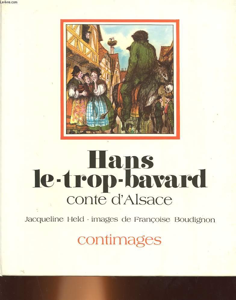 HANS LE TROP BAVARD CONTE D'ALSACE