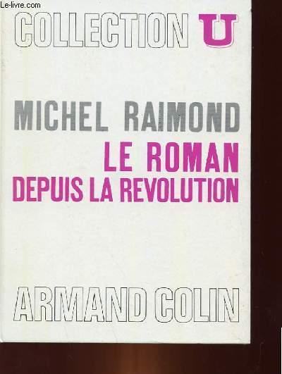 LE ROMAN DEPUIS LA REVOLUTION