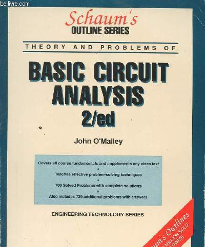 BASIC CIRCUIT ANALYSIS 2/ED SECOND EDITION