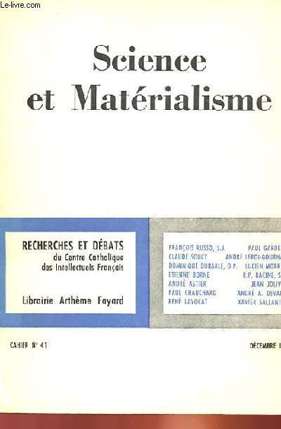 SCIENCE ET MATERIALISME