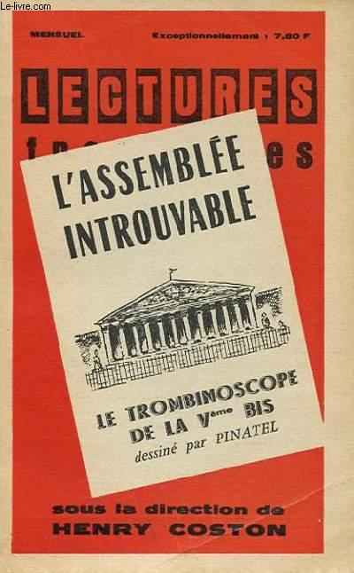 LECTURES FRANCAISES - L'ASSEMBLEE INTROUVABLE