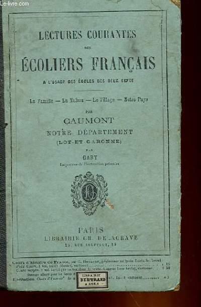 LECTURE COURANTES DES ECOLIERS FRANCAIS