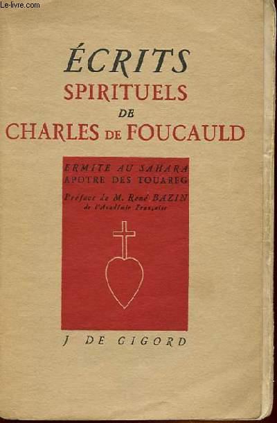ECRITS SPIRITUELS DE CHARLES DE FOUCAULD