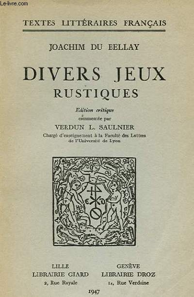 DIVERS JEUX RUSTIQUES