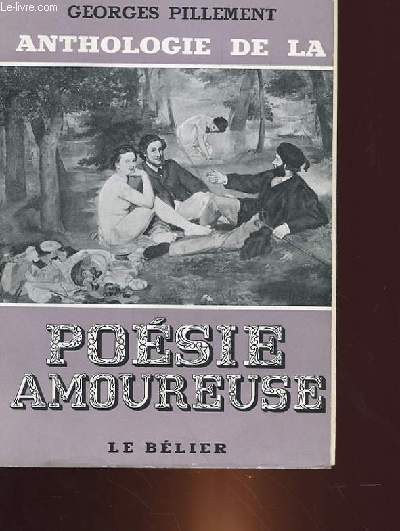 ANTHOLOGIE DE LA POESIE AMOUREUSE