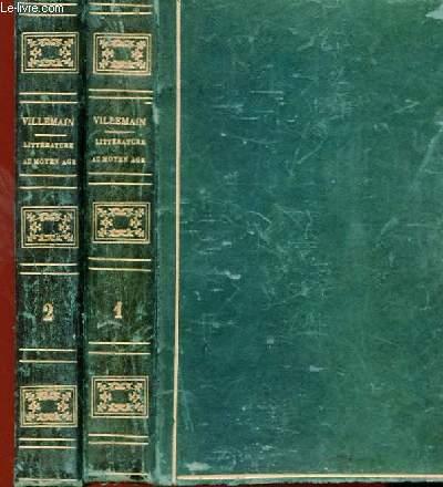 COURS DE LITTERATURE FRANCAIS - TABLEAU DE LA LITTERATURE AU MOYEN AGE EN 2 TOMES