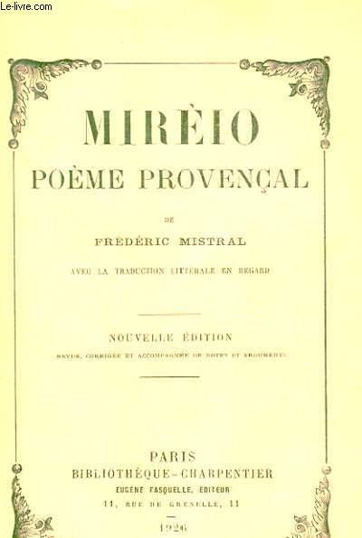 MIRELO, POEME PROVENCAL