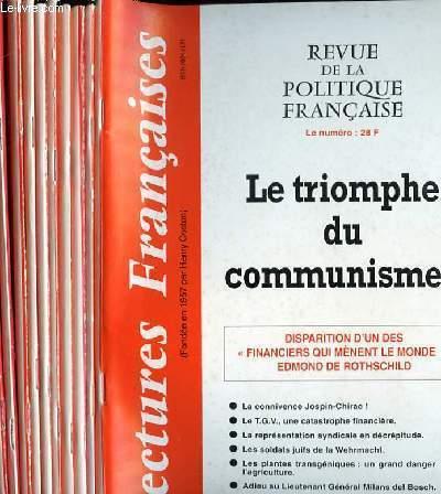 LECTURES FRANCAISES - REVUE DE LA POLITIQUE FRANCAISE DU NUMERO 489 AU NUMERO 500 - 42° ANNEE