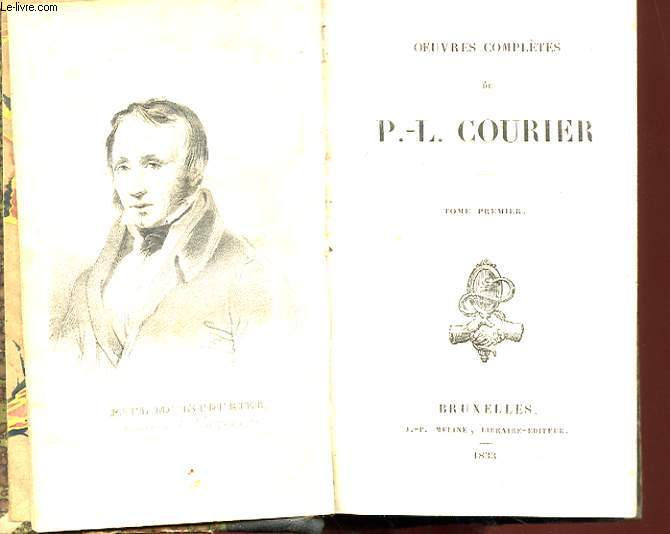 Oeuvres completes de p.-l. courier tome 1, 2 & 3