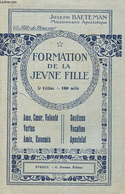FOMATION DE LA JEUNE FILLE