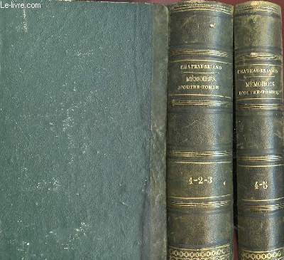 MEMOIRE D'OUTRE-TOMBE (5 TOMES) EN 2 VOLUMES